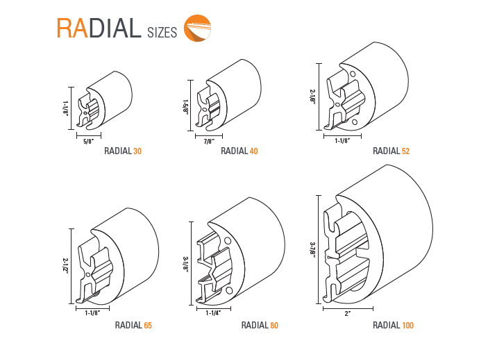 RADIAL RUB RAIL
