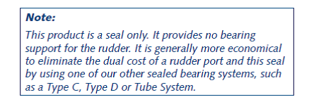 Rudder Port Bearing Type I Data
