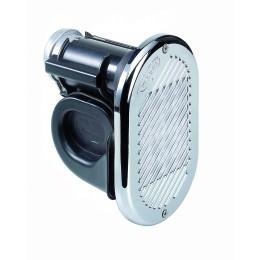 HR1/C 12 or 24 Volt Air Horn Chrome