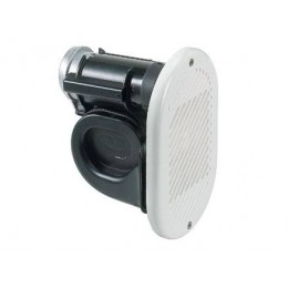 HR1 12 or 24 Volt Air Horn White